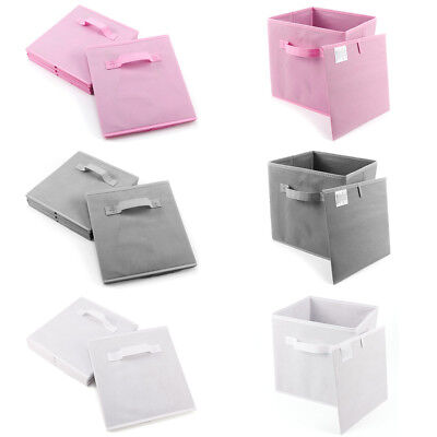 4x Fabric Storage Box Holder Stationery Clothes Organiser Case For Home Dedroom
