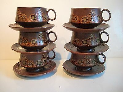 Unusual Set Of Retro Carlton Ware Cups And Saucers