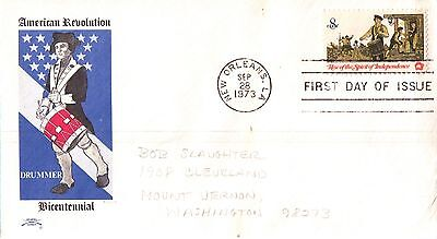 United States American Revolution Drummer Frist Day Cover 1973