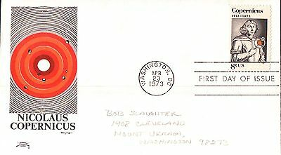 United States Nicolaus Copernicus First Day Cover 1973