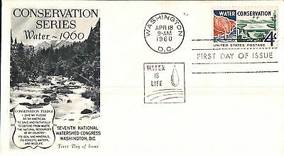United States  Conversation Series Water First Day Cover 1960