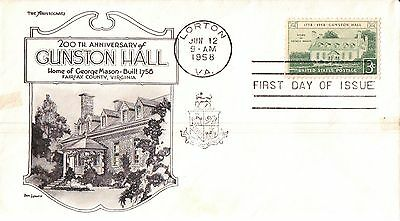 United States Gunston Hall First Day Cover 1958
