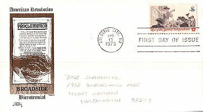 United States American Revolution Proclamation First Day Cover 1973