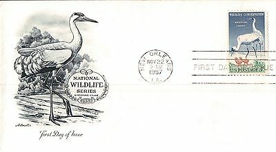 United States National Wildlife Series First Day Cover 1957