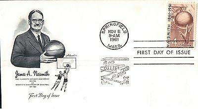 United States James Naismith Anniversary First Day Cover 1961
