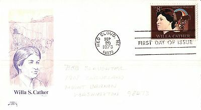 United States Willa S Cather First Day Cover 1973