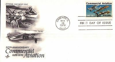 United States Anniversary Commerical Aviation First Day Cover 1976