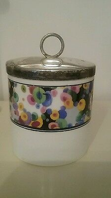Vintage Grafton China Small Preserve Jam Pot with Metal Lid. Toothbrush Holder