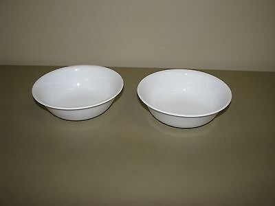 2 Corelle Winter Frost Soup Cereal Bowls Solid White