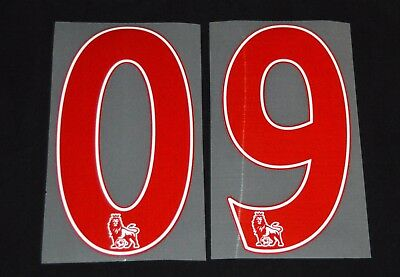 Premier League 2012/16 Red PS Pro 258mm Football Shirt Numbers 0-9 Sporting ID