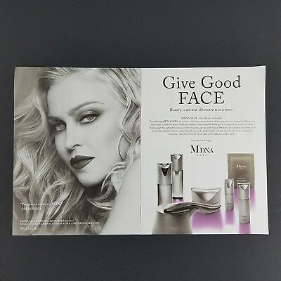 Print Ad Madonna Giving Good Face MDNA Skin Care Products