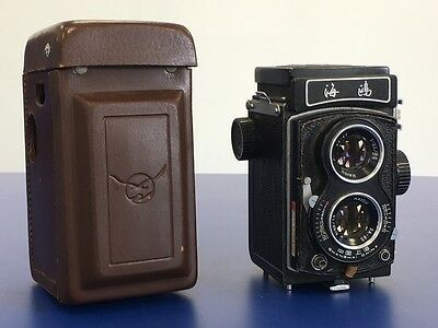 Vintage Chinese Seagull 4BI Twin Lens Reflex Camera Haiou 75mm Lens - TLR