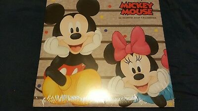 Disney Mickey Mouse 12 month 2018 Wall Calendar NEW Factory Sealed Minnie Donald
