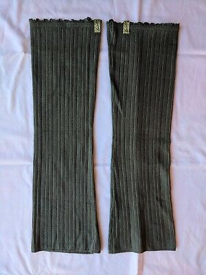 Lululemon Dance Knit Leg Warmers Ruffle Gray Thigh-High