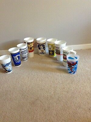 NBA plastic cups from around the NBA cities ...unused