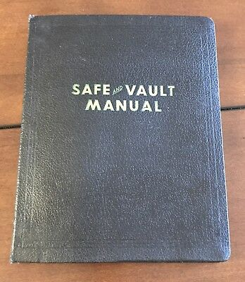 The Locksmiths Official Safe And Vault Manual MH JAF Co 1948 First Print