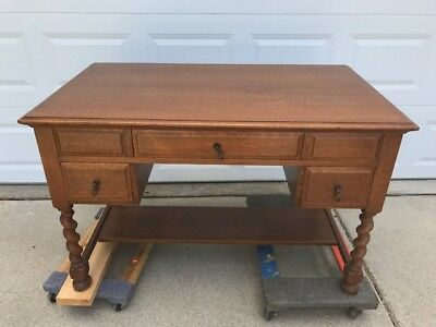Antique Desk Oak Wood