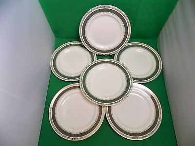 Crown Ducal Chatsworth Dinner Plates x 6