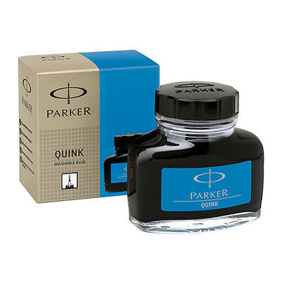 PARKER Quink 57ML Ink Bottle for Fountain Pens, Blue ink, 1 unit per pack