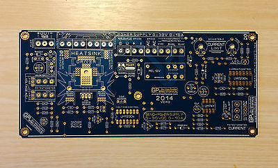 BENCH POWER SUPPLY  PS3010 0-30VDC  0-10A PCB by moutoulos ™