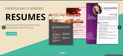 Job Resumes Templates and Services Website BUSINESS FOR SALE