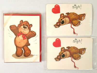 Pack 8 Teddy Bear Note Cards Envelopes and 2 Post Cards Suzy's Zoo 1981 Vintage