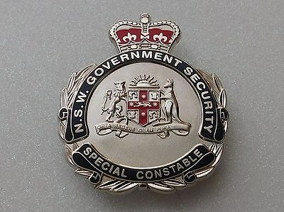 NSW Government Security Special Constable obsolete badge