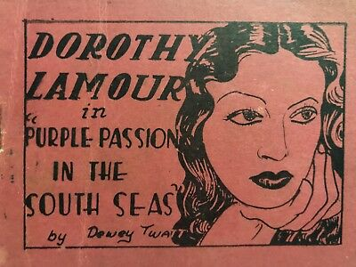 Vintage Tijuana Bible Dorothy Lamour  - 8 Pages - Risque Comic