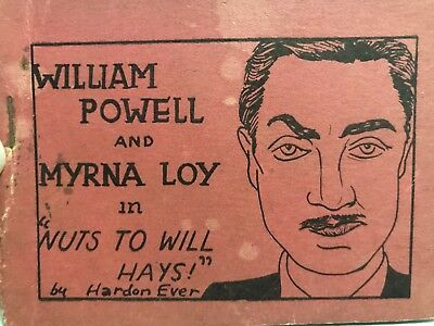 Vintage Tijuana Bible William Powell and Myrna Loy - 8 Pages - Risque Comic