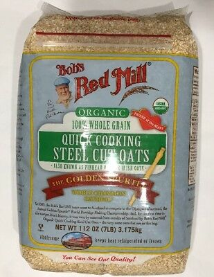 Bob's Red Mill Organic 100% Whole Grain Steel Cut Oats 7 lbs
