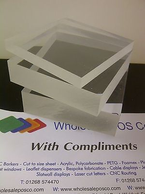 30Mm Thick Clear Acrylic Block Cast Perspex Sheet 210Mm X 148Mm A5 Heavy Sheet
