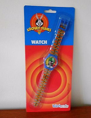Vintage Looney Tunes Marvin The Martian Led Watch Mint On Card