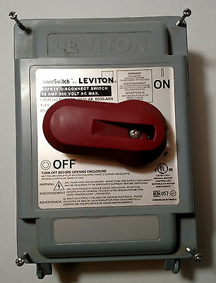 Leviton DS30-AX Safety Disconnect Switch 30A 600VAC