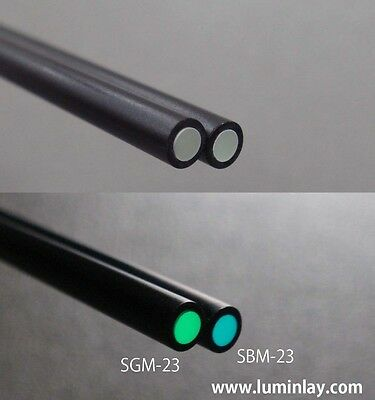 Luminlay SBM-23 blue 2mm dia. with 3mm dia. black pipe*60mm side dot marker