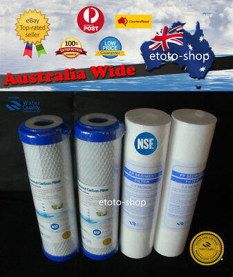 2 Set Replacement Water Filters Cartridges Sediment + 0.5 Micron Coconut Carbon