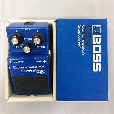 BOSS CS-2 Compressor & Sustainers Guitar Effect Pedal Japan Rare Vintage Withbox