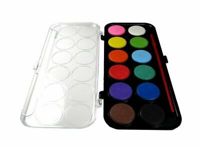 Bulk Kids Water Colour Watercolour Palette Artist Paint Painting Colouring Brush