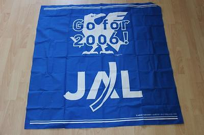 JAL Japan Airlines Tuch / Fahne Blue Samurai Go for 2006
