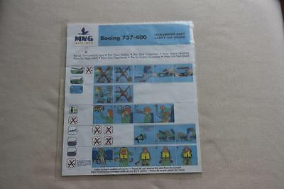 Safety Card MNG Airlines Boeing 737-400
