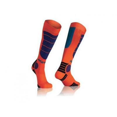 Acerbis Socken - MX IMPACT - orange-blau Motocross Enduro MX Cross