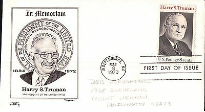 United State Harry S Truman First Day Cover 1973