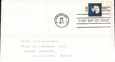 United States Antarctic Treaty First Day Cover 1971