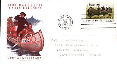 United States Pere Marquette Early Explorer First Day Cover 1968
