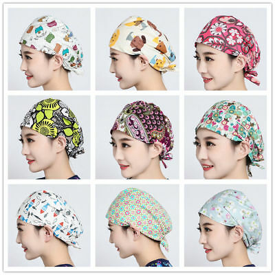 9 Kinds New Nurses Flowers Cute Printing Scrub Cap Medical Surgical Surgery Hat