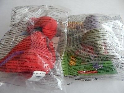 McDONALDS HAPPY MEAL - 2 CLIFFORD THE BIG RED DOG TOYS - CLIFFORD & CLEO - NEW