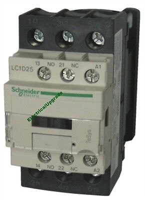Schneider Electric Offer (LC1D25U7) 3 Pole Contactor ; 11kW  ; 240V AC Coil