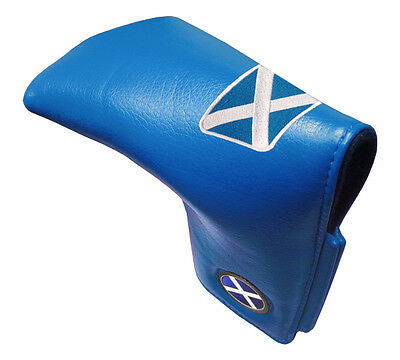 Scotland Leatherette Traditional Golf Putter Cover- Blue