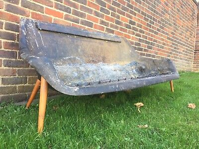 Vintage 1960's Lurashell 3 Seater Fibreglass Sofa For Recovering