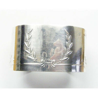 Antique French Solid Silver Bangle