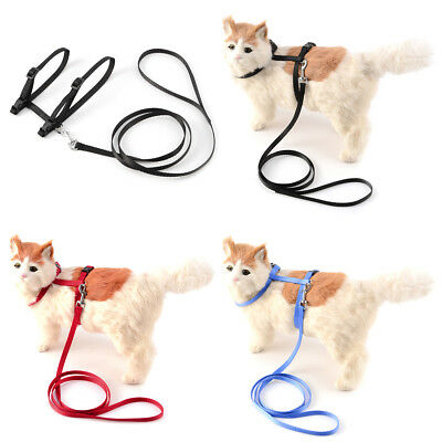 Collier Laisse Chat Chien Harnais Nylon Promenade Animaux Sangle Corde PROMO